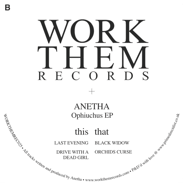 PACKSHOT Anetha - Ophiuchus EP - Work Them Records