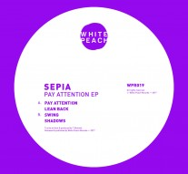 sepia white peach